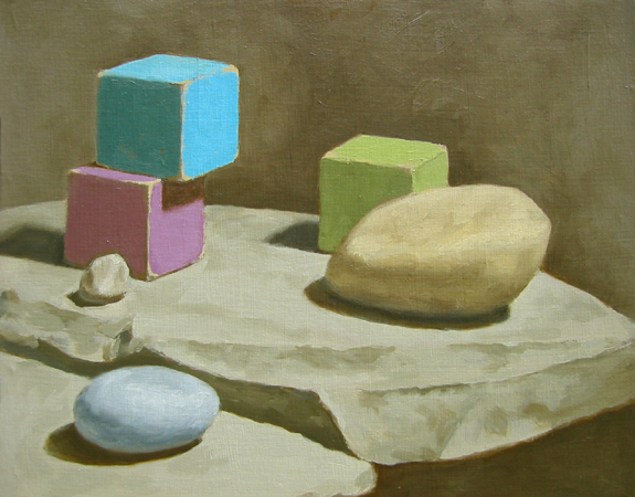 Still Life With Stones And Blocks